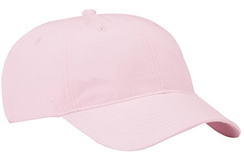 Port & Company Men's Brushed Twill Low Profile Cap OSFA Light Pink ()