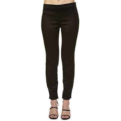 Femme Noir Pantalon Polyester A03151183555 Boutique Moschino 1qw8H55B