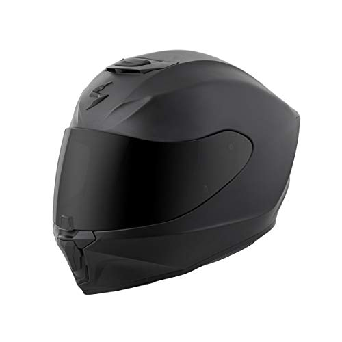 (Scorpion EXO-R420 Solid Adult Street Motorcycle Helmet - Matte Black/Medium)