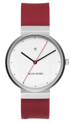 Jacob Jensen 751 Mens Red White Watch