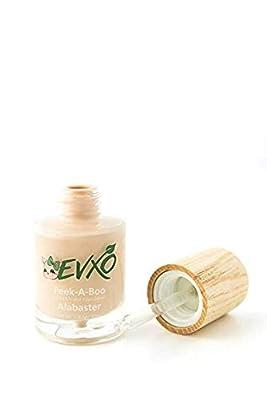 EVXO Organic Liquid Mineral Foundation - Vegan, All Natural, Gluten Free, Aloe Based, Buildable Coverage, Cruelty Free Foundation Makeup - 1 Fl Oz (Alabaster)