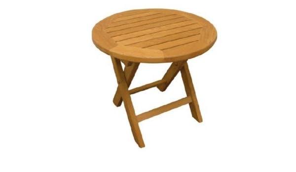 Round Teak Side Table.Amazon Com Atlanta Teak Furniture Teak Folding Round