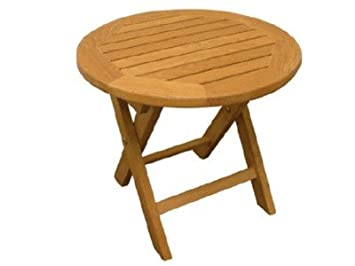 Amazon.com: ATLANTA Muebles de teca – teca – Mesa auxiliar ...