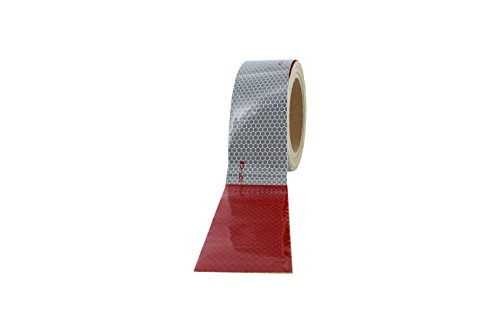"""ABN Trailer Conspicuity DOT-C2 Approved 2"""" Inch x 30' Foot Reflective White Tape 1-Pack – Vehicle, Trailer, Boat, Sign by ABN (Image #4)"""