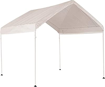 ShelterLogic MaxAP Canopy Series Compact Outdoor Easy to Assemble Steel Metal Frame Canopy with 50+ UPF Sun Protection and Waterproof Cover