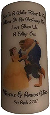 Bougie Personnalisee Disney La Belle Et La Bete Centre