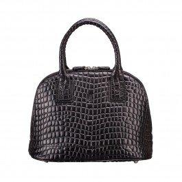 Maxwell Scott Luxury Italian Mock Croc Leather Tote Ladies Purse - Black by Maxwell Scott Bags