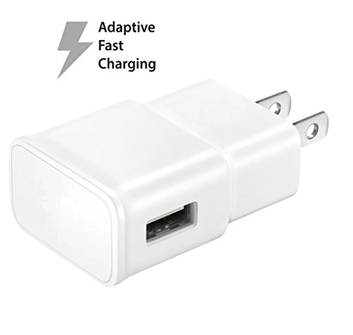 4ce56718e201a5 Truwire Adaptive Fast Charger Kit for Samsung Galaxy S7, S7 Edge, J7, S6,  S6 Edge, Note 5, Note 4, Honor Lite 10, Moto G5, and More, Wall Charger, ...