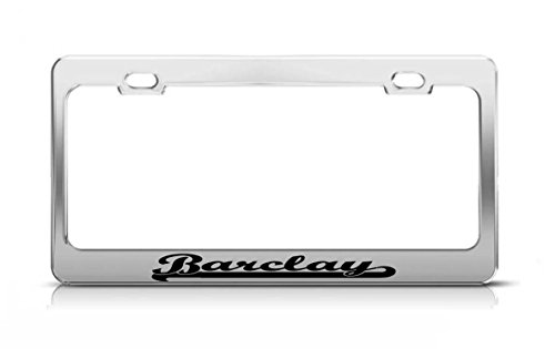 barclay-last-name-ancestry-metal-chrome-tag-holder-license-plate-cover-frame