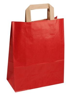 Der-verpackungs-profi GmbH 250 250 250 Papiertragetaschen mit Papierflachhenkel Tragetaschen Beutel Tüten (22 + 10 x 28 cm, rot) B01MPWJHP8 Einkaufskrbe & -taschen 80b653
