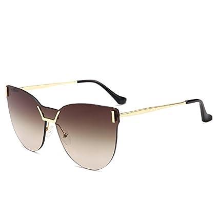 xiaohuihui Gafas de Sol de Tres Colores sin Marco con Gafas ...