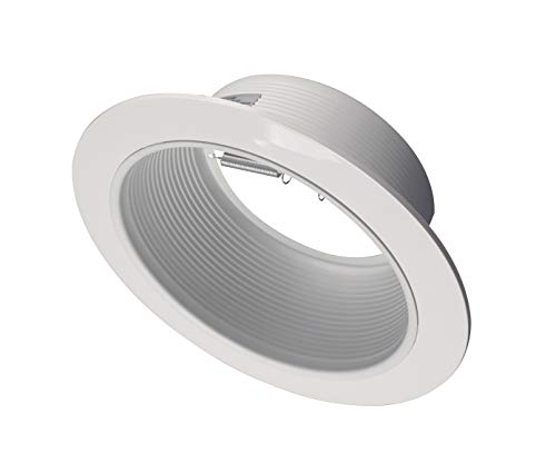 NICOR Lighting 6 inch White Recessed Baffle Trim, Fits 6 inch Housings (17510)