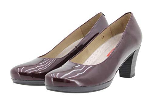 Piesanto Larghezza Tacco Con Comfort Scarpe Speciale Donna Pelle Burdeos 9301 qwROaqr