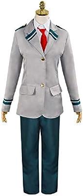 Bunnysun Escuela Hombre para Hombre del Traje Uniforme de Estudiante Chaqueta Gris con Camisa Blanca y Corbata Azul del Estudiante para Pantalones del Traje de Cosplay del Anime,Suit-M: Amazon.es: Hogar