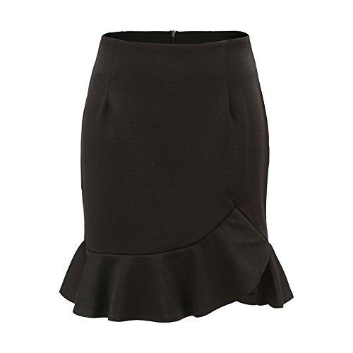 Feuille Freestyle Noir Hanche t Chic de Mini Fashion Femme de Package t Gala Plage Unie Soire Jupes Irregulier Couleur Jupe Sexy Lotus de C Fte rSq8rwfd