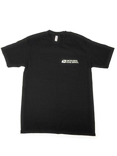 USPS New Post Office Black T-Shirt Postal Logo ON Front & Back