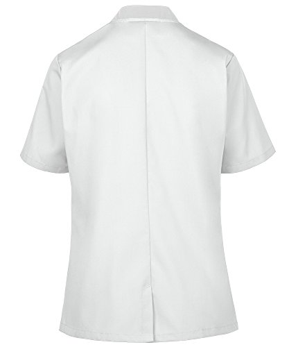 Women's Lightweight Short Sleeve Chef Coat (XS-3X, 3 Colors) (Medium, White) by ChefUniforms.com (Image #6)