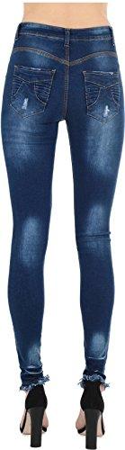 Indigo Femme Blue 34 Jeans Multicoloured Real HOXTON Butterfly qxYnFp