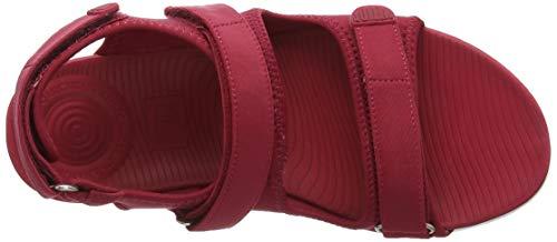 Sandalias Abierta Strap Sandals 639 Rojo con Royal para Red Punta Neoflex Back Fitflop Mujer qaIw6CC