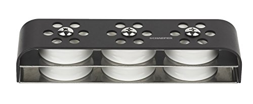 Schaefer Six Sheave 5 Series 3 Design Deck Organizer with Aluminum Top Plate and Stainless Steel Base (Organizer Schaefer)