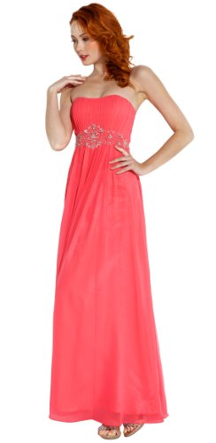 Strapless Chiffon Goddess Long Prom Dress Bridesmaid
