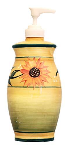 Sunflower Soap Dispenser Lotion Jar Sunflower Yellow by ACK