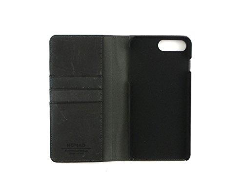Nomad Leather Folio Wallet Case for Apple iPhone 7 Plus Black 6 Cards+Cash CASE-I7PLUS-FOLIO-GRAY by Nomad (Image #1)
