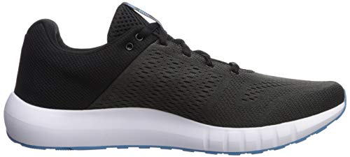 Under Armour Men's Micro G Pursuit Running Shoe, Black (002)/White, 9 by Under Armour (Image #6)