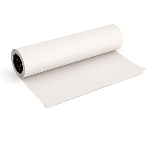 White Kraft Butcher Paper Roll - 18 Inch x 175 Feet (2100 Inch) - Food Grade FDA Approved – Great Smoking Wrapping Paper for Meat of all Varieties – Made in USA – Unwaxed and Uncoated (Butcher Paper Dispenser 18)