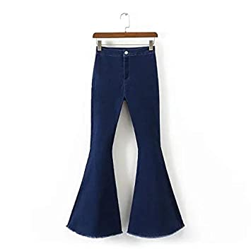 5477f85a61855b Amazon.com: DHmart Full-Length Bell-Bottoms Flare Pants Stretching ...
