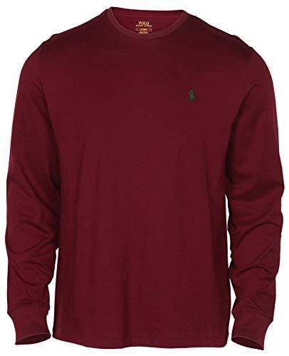 RALPH LAUREN Polo Men Long Sleeve Pony Logo T-Shirt (Small  Red Wine)