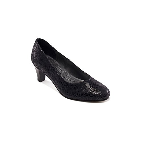 Donna Print Padders Navy Tacco Scarpe Col Floral WH2D9IE