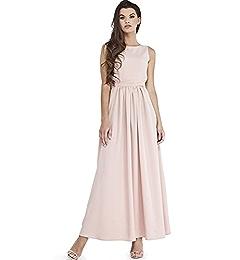 158c7fb2142 VILONNA Women s Semi Formal Long Maxi Dresses Sexy Summer Belted Sleeveless  Evening Maxi Dress (Black