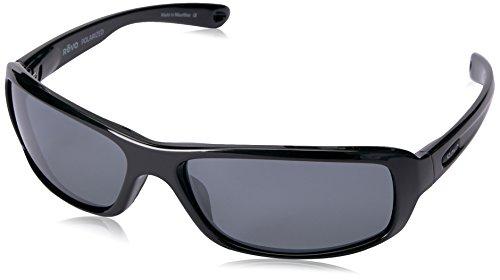 Revo Re 4064x Camber Soft Polarized Rectangular Sunglasses, Black Graphite, 62 - Mesa Sunglasses
