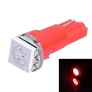 T50.25W 14LM 1x 5050SMD Introdujo Luz Roja Para Auto Indicadores Luz Lámpara (DC 12V)