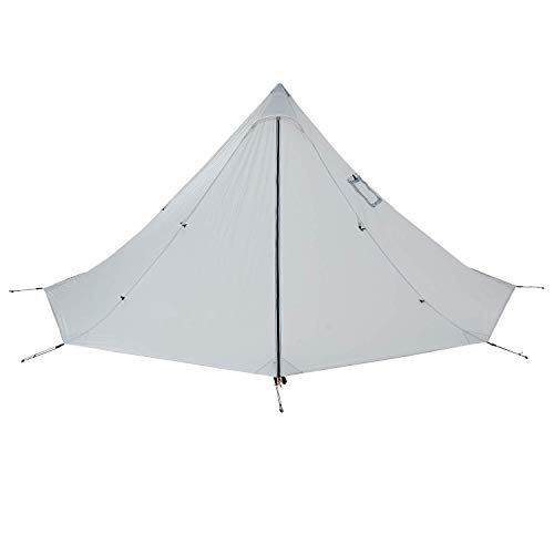 Black Orca Smokey HUT Chimney Tent - Lightweight Hot Tent with Stove Jack, Double Heated Shelter (Beige) (Best Wall Tent Stove)