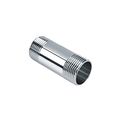 "Beduan Stainless Steel Pipe Fittings, 1/2"" NPT x 1/2"" NPT Male Threaded, 2"" Length Nipple Cast Pipe"