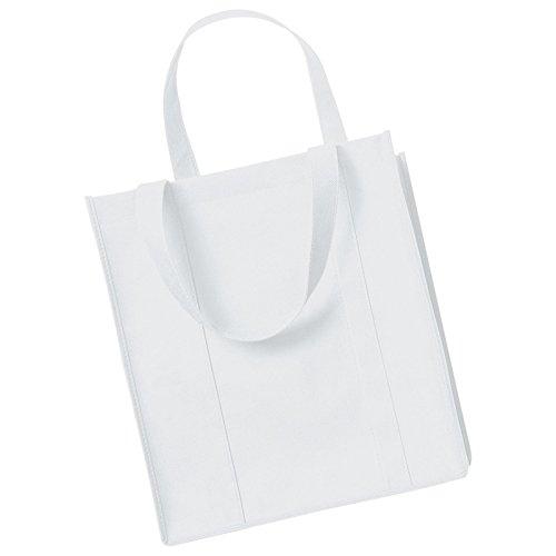 Womens Westford Mill-Borsa Shopper in cotone, taglia unica, bianco