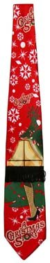 A Christmas Story Light up Leg Lamp Neck Tie with Christmas Tree [Toy]