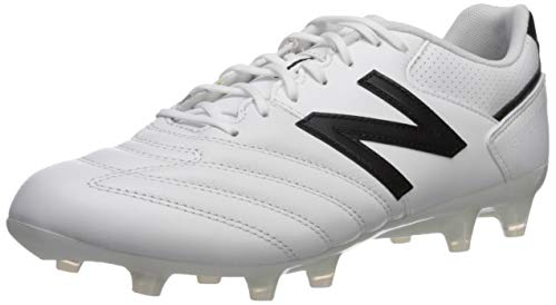- New Balance Men's 442 Team V1 Classic Soccer Shoe, White/Black, 10.5 2E US
