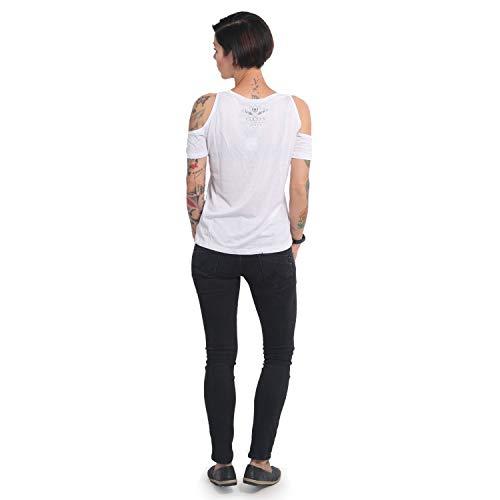 Yakuza Women T-Shirt Memento Mori Shoulder Cut, Color:Black, Talla ...