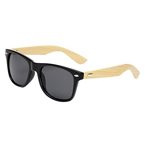 Femmes de UV400 lunettes Glare Bois Des Eyewear Lunettes Arms de Hommes Cru Anti soleil Meijunter Gris Bambou protection qRBOHUgaH4