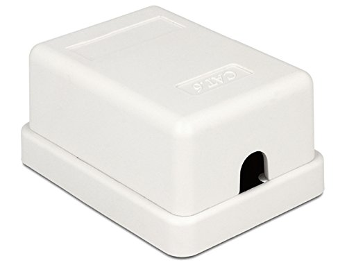 DeLOCK 86248 Color blanco caja de tomacorriente - Caja registradora (52 mm, 25,5 mm, 39 mm)