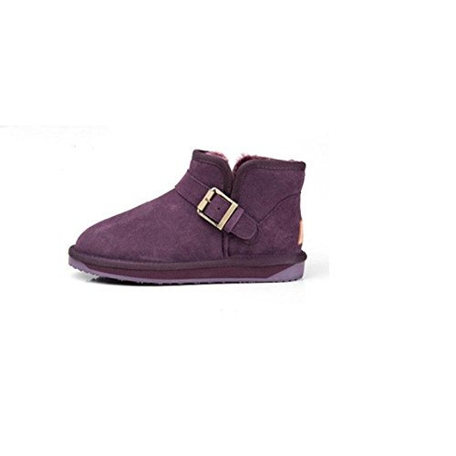 39 shoes cotton Padded warm snow Winter Short boots PURPLE tube flat wgFqxv16