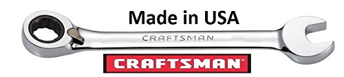 Craftsman 9/16 Inch SAE Full Polish Reversible Ratcheting Combo Wrench 42416, Made in USA