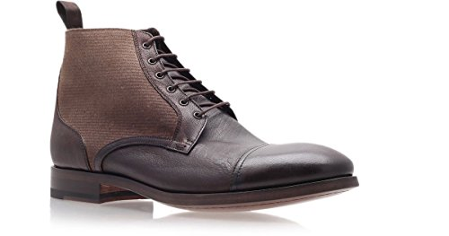 Paul Smith Men's Brown Leather/Canvas Boots, - Smith Mens Shoes Paul