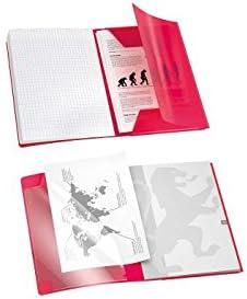 OXFORD Cahier EASYBOOK Agraf/é 17x22cm 96 pages S/éy/ès 90g Rouge