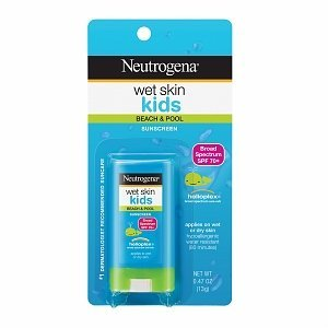 Neutrogena Wet Skin Kids Sunscreen Stick, SPF 70, 0.47 oz (Pack of 10)