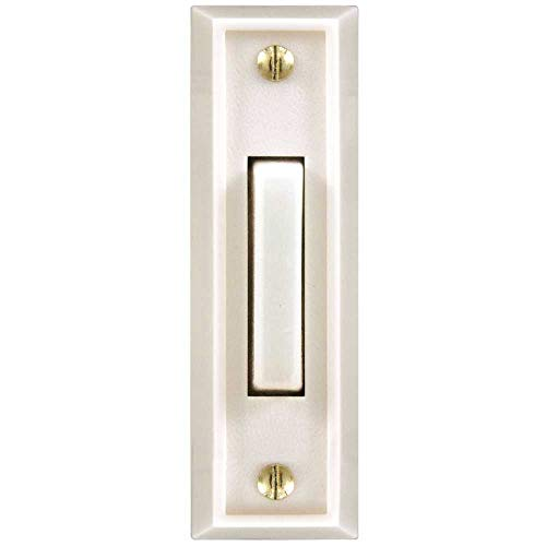 Hampton Bay HB-715-1-02 Wired Lighted Door Bell Push Button, White