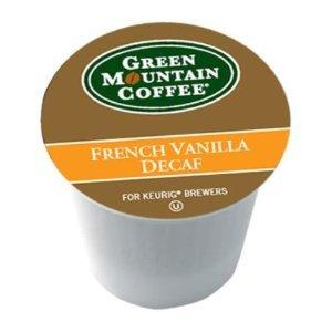 Green Mountain Coffee French Vanilla Decaf Keurig Single-Serve K-Cup Pods, Light Roast Coffee, 24 - Caffeine Free Coffee